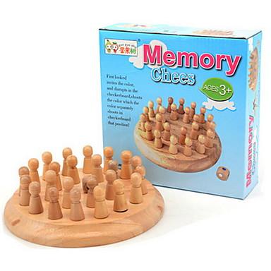 Deskové hry Chess Game Hračky Kulatý Dřevo Pieces Dětské Chlapecké Unisex Dárek