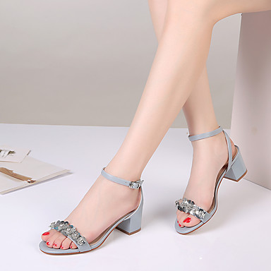 Damen Schuhe Leder Sommer Fersenriemen Sandalen Blockabsatz für Normal Weiß Blau Rosa