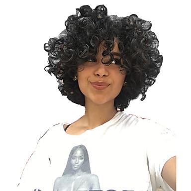 Kihara Koneella valmistettu Aidot hiukset Peruukit Musta