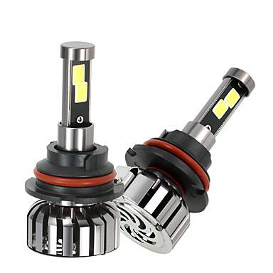 Kkmoon par de 9007 hb5 dc 12v 40w 4000lm 6000k levou farol lâmpada kit lâmpadas