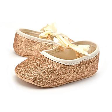Para Meninas Sapatos Sintético Verão / Outono Mocassins e Slip-Ons Laço para Crianças Dourado / Prata / Champanhe / Festas & Noite