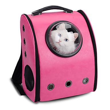 חתול כלב תיקי נשיאה ותרמילי גב לנסיעות האסטרונאוט קפסולת Carrier חיות מחמד מנשאים נייד נושם אחיד צהוב קפה ורד ורוד