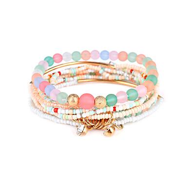 Damen Strang-Armbänder - Luxus Natur Zum Selbermachen Magnettherapie Kreisform Schwarz Regenbogen Grün Blau Rosa Armbänder Für Party