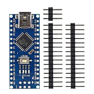 Mini usb nano 3.0 peças de placa de desenvolvimento atmega328p para arduino