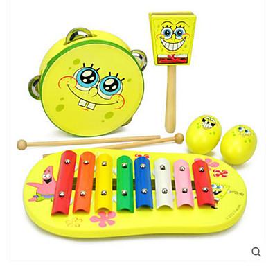 Xilofone Rectângular Quadrada Diversão Instrumento Musical de Brinquedo Unisexo Brinquedos Dom
