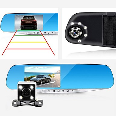 d760 1080p / Full HD 1920 x 1080 HD Car DVR 140 Degree / 110 Degree Wide Angle 4.3 inch Dash Cam with G-Sensor / Parking Monitoring /