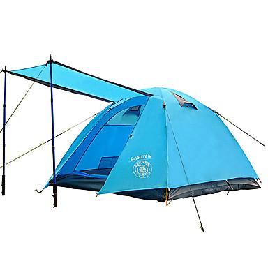 3-4 osoby Stříška Dvojitý Camping Tent jeden pokoj skládací stan Odolný proti vlhkosti Voděodolný Odolné vůči dešti pro Kempink Outdoor