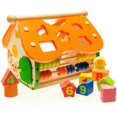 Bausteine Spielzeugrechenbrett Steckpuzzles Spielzeuge Haus Hölzern Kinder Stücke