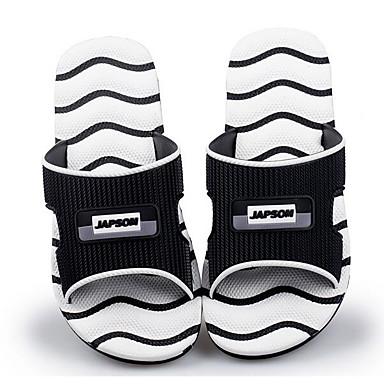 Miehet Kengät PU Kevät Comfort Sandaalit Käyttötarkoitus Kausaliteetti Valkoinen Musta Sininen