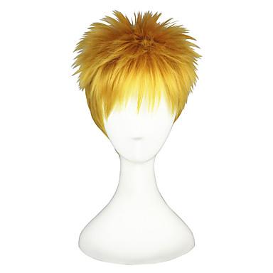 Synthetische Perücken Glatt Blond Damen Kappenlos Cosplay Perücke Kurz Synthetische Haare