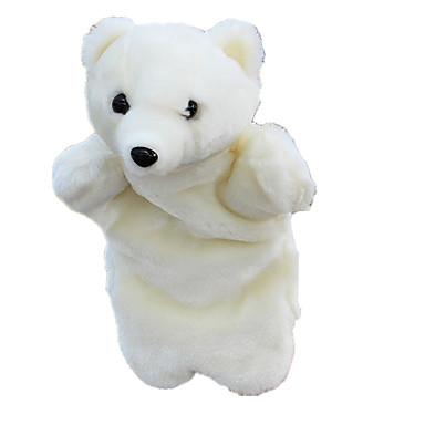 Fantoches de dedo Presentes de Natal Fantoches Brinquedos Urso Urso polar Fofinho Animais Adorável Tecido Felpudo Felpudo Crianças Peças