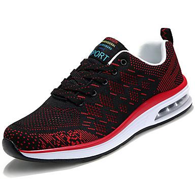 Pánské Obuv PU Jaro Podzim Pohodlné Atletické boty Běh pro Ležérní Černá Červená Modrá
