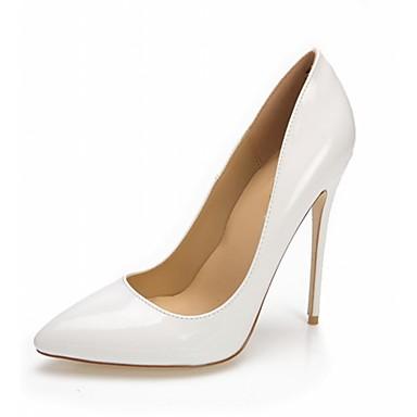 Mulheres Sapatos Couro Ecológico Courino Verão Outono Solados com Luzes Conforto Saltos Caminhada Salto Agulha Dedo Apontado para