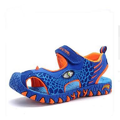 Chlapecké Obuv Kůže Léto Pohodlné světelný Shoe Sandály Zvířecí potisk Pro Ležérní Sport Tmavě šedá Zelená a modrá Námořnická modř