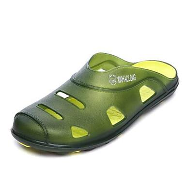 Pánské Boty Guma Jaro Pohodlné hole Boty Pantofle a Žabky Pro Ležérní Žlutá Zelená Námořnická modř