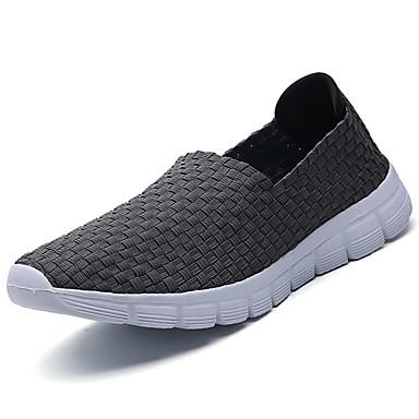 Homens sapatos Couro Ecológico Verão Conforto Mocassins e Slip-Ons Caminhada para Casual Preto Cinzento Azul