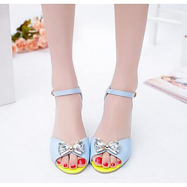 Naiset Sandaalit Kevät PU Valkoinen Sininen Tasapohja