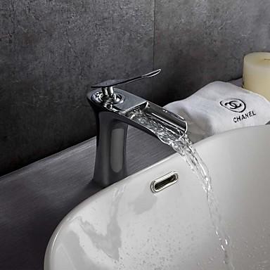 Koupelna Umyvadlová baterie - Vodopád Termostatický Pochromovaný Tezgah Üstü Single Handle jeden otvor