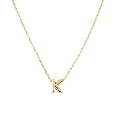 Damen Monogramme Anhängerketten - Freunde Simple Style, Modisch W, X, Z Modische Halsketten Schmuck 1pc Für Party, Geschenk, Alltag
