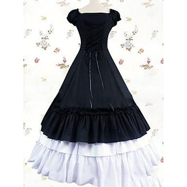 Gothic / Viktorianisch / Mittelalterlich Kostüm Damen Kleid / Party Kostüme / Maskerade Vintage Cosplay Baumwolle / Other Kurzarm Kappe