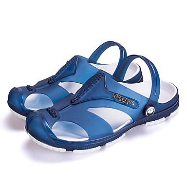Miehet Kengät Kumi Kevät Comfort Sandaalit Käyttötarkoitus Kausaliteetti Harmaa Kahvi Sininen