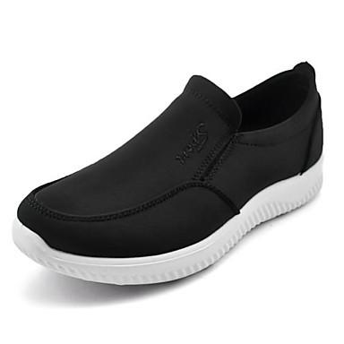 Miesten kengät Kangas Kevät Syksy Comfort Mokkasiinit Kävely varten Kausaliteetti ulko- Musta Sininen