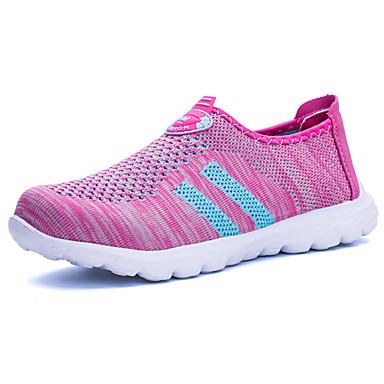Mulheres Sapatos Couro Ecológico Tule Primavera Verão Casual par sapatos Fashion Tênis Sem Salto Ponta Redonda para Diário Casual Para