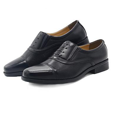 Herren Schuhe Nappaleder Leder Frühling Komfort Outdoor Für Normal Schwarz