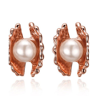 Damen Ohrstecker Imitierte Perlen Personalisiert Blumig Geometrisch Einzigartiges Design Klassisch Retro Böhmische Grundlegend Natur