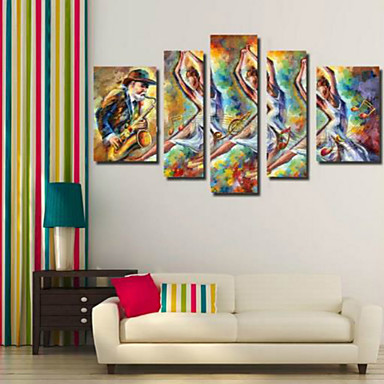 Kunstdrucke Menschen Modern,Fünf Panele Horizontal Druck Wand Dekoration For Haus Dekoration
