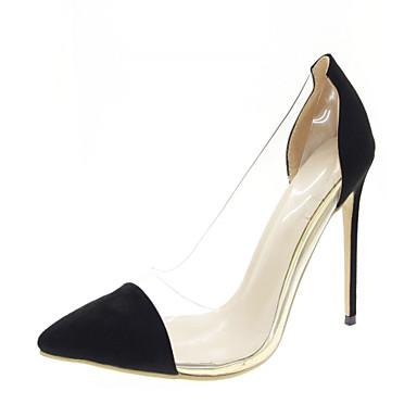 Mulheres Sapatos Courino Couro Ecológico Verão Outono Conforto Solados com Luzes Saltos Caminhada Salto Agulha Dedo Apontado para