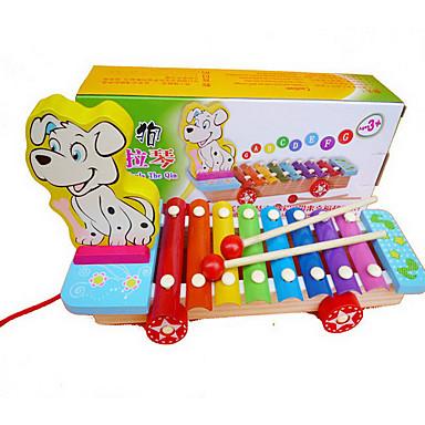 Xylofon Stavební bloky Hračky Zábava Psi Dřevo Pieces Dětské Dárek