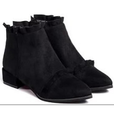 Naiset Kengät Nupukkinahka Kevät Comfort Bootsit varten Kausaliteetti Musta Armeijan vihreä