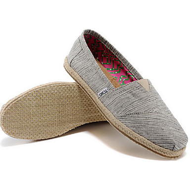 Herren Schuhe Leinwand Frühling Komfort Loafers & Slip-Ons Für Normal Grau Rot Blau