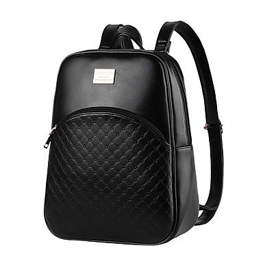 Mulheres Bolsas PU mochila para Compras Casual Formal Escritório e Carreira Ao ar livre Primavera Verão Outono Inverno Todas as Estações