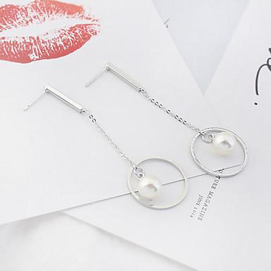 Dámské Visací náušnice Imitace perly Euramerican Módní Slitina Circle Shape Šperky Stříbrná Denní Ležérní Kostýmní šperky