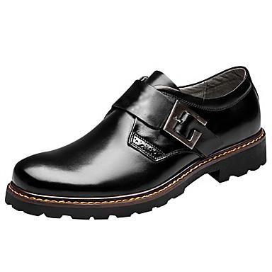 Miesten kengät Nappanahka / Nahka Kevät / Kesä Comfort Mokkasiinit Musta / Ruskea / Häät