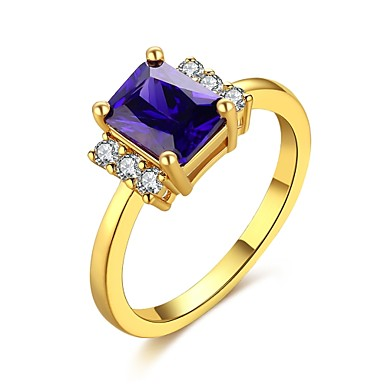 Dámské Prsten Syntetický opál Kubický zirkon Zlatá Zirkon Měď Postříbřené Pozlacené Slitina Obdélníkový Geometric Shape Přizpůsobeno
