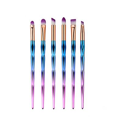 6pcs Pincel de Delineador de Olhos Pincel de Sombrancelha Pincel para Sombra Conjuntos de pincel Pêlo Sintético Homens e Mulheres Rosto