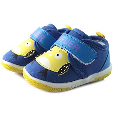 Baby Schuhe Leinwand Frühling Herbst Lauflern Flache Schuhe Walking Niedriger Absatz Runde Zehe Klettverschluss Für Normal Blau