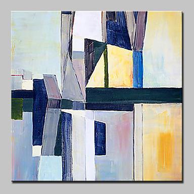 Pintura a Óleo Pintados à mão - Abstrato Abstracto Contemporâneo Moderno Incluir moldura interna