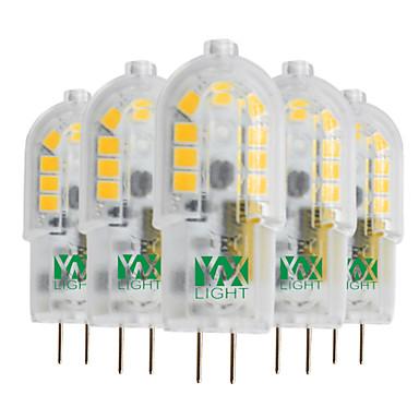 YWXLIGHT® 5pçs 3W 300-400 lm G4 Luminárias de LED  Duplo-Pin T 18 leds SMD 2835 Branco Quente Branco Frio Branco Natural 12V