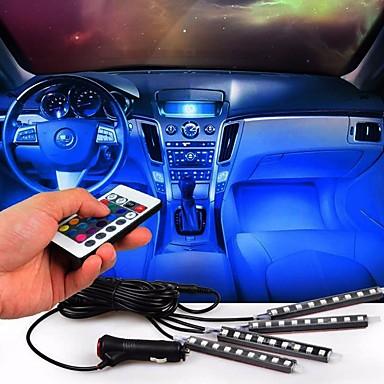 أضواء السيارات بقيادة قطاع النيون مصباح الجو الزخرفية أضواء السيارة ضوء الداخلية
