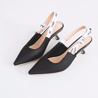 Naiset Sandaalit Comfort Kevät PU Kausaliteetti Musta 1-1,75in