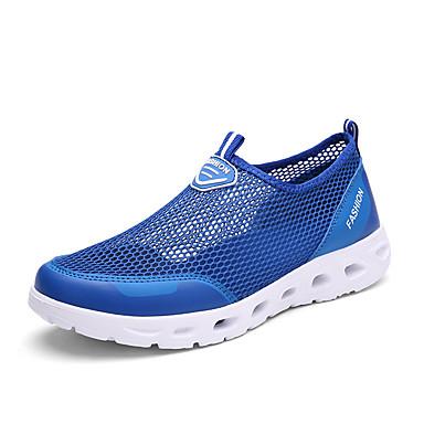 Unisex Schuhe Tüll Sommer Herbst Komfort Leuchtende Sohlen paar Schuhe Loafers & Slip-Ons Für Normal Dunkelgrau Hellgrau Rosa Königsblau