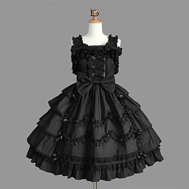 Princess Gothic Lolita Dress Punk Women s Girls  JSK   Jumper Skirt Cosplay  Black Ball Gown 1c288eae7b26