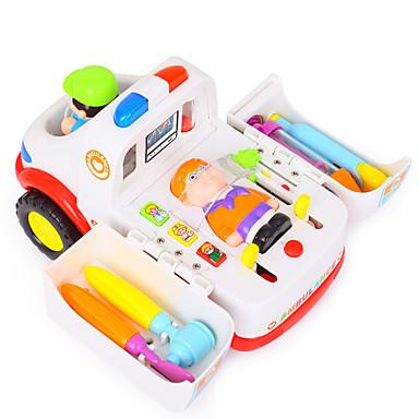 HUILE TOYS Carros de Brinquedo Kits médicos Brinquedos de Faz de Conta Ambulância Brinquedos Elétrico Plásticos Crianças Peças