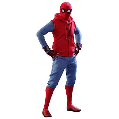 Spinnen Cosplay Kostüme Film Cosplay Rot Weste Hosen Handschuhe T-shirt Handgelenkstütze Halloween Leder Polar-Fleece