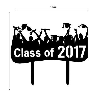 billige Kakedekorasjoner-Kakepynt Skole / Studentereksamen Hjerter Plast Graduation med 1 pcs PVC Veske