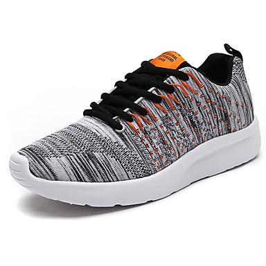Homens sapatos Couro Ecológico Primavera Outono Conforto Tênis Caminhada Cadarço para Casual Azul Escuro Cinzento Claro Branco/Preto